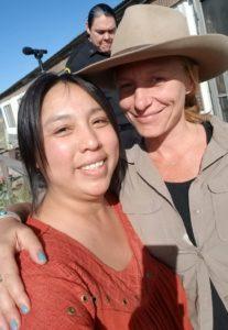 With Christina Voros on set of Yellowstone