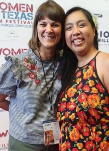 With Laura Somers at the Women Texas Film Festival